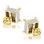 Real Diamond Earrings 14K Yellow Gold Diamond Stud