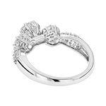 14K Gold Diamond Cluster Ring for Women Past Prese