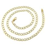 10K Yellow Gold Hollow Italy Cuban Curb Link Chain