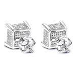 Real Diamond Earrings 14K White Gold Diamond Stud