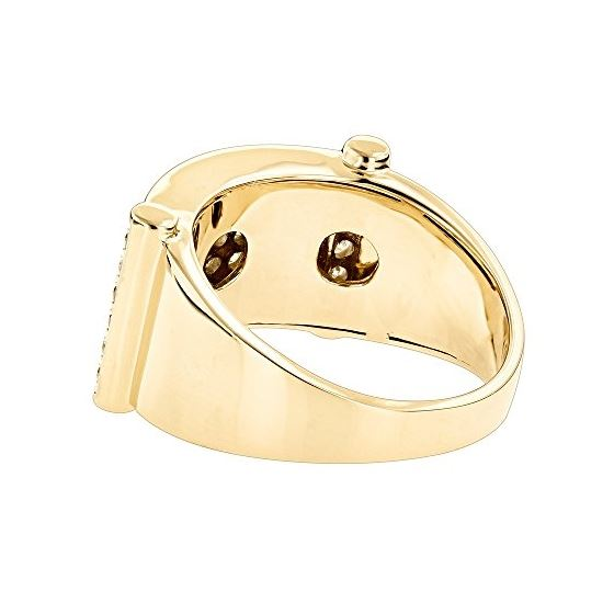 Luxurman Rings for Men: Unique 14k Gold Mens Diamo