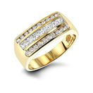 LUXURMAN Mens Round and Princess Cut Diamond Ring
