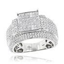 Princess Cut Diamond Engagement Rings Item 14K Whi