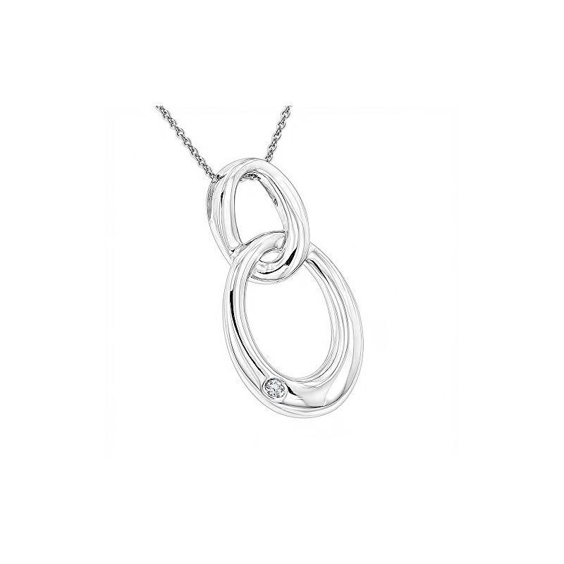 Luxurman Love Quotes Diamond Interlocking Ovals Pe