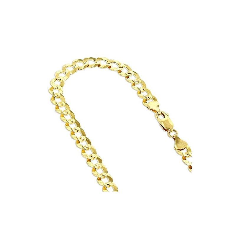 Solid 10k Gold Curb Comfort Chain For Men LUXURMAN