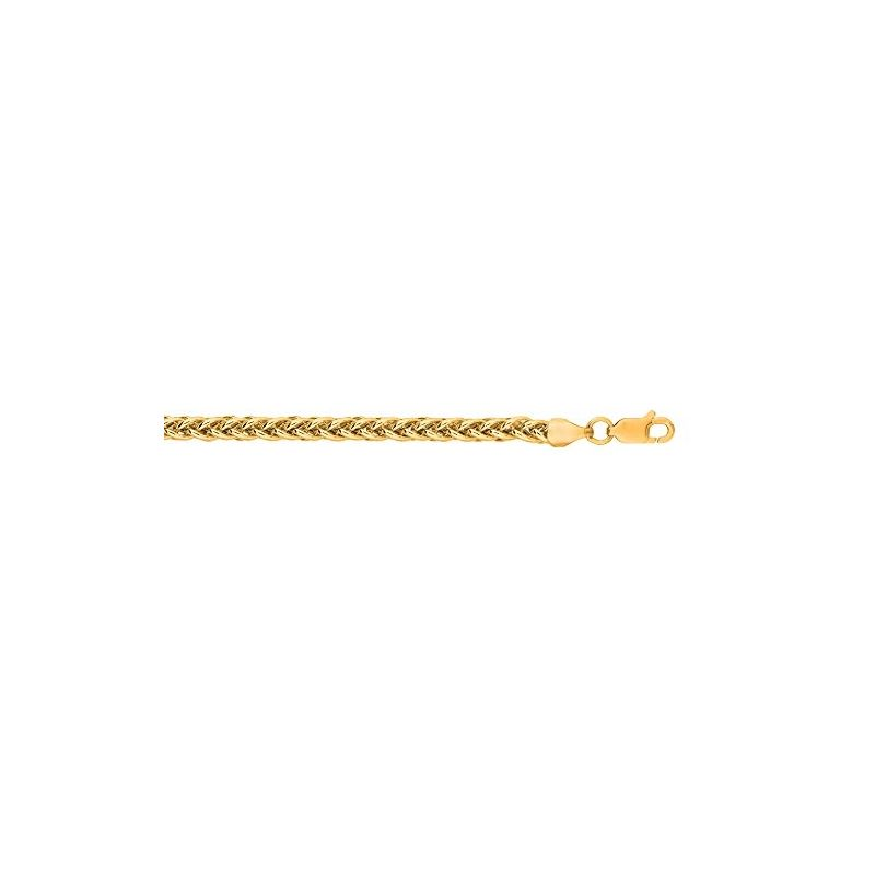 Hollow 14k Gold Wheat Chain For Men and Women 3.5m