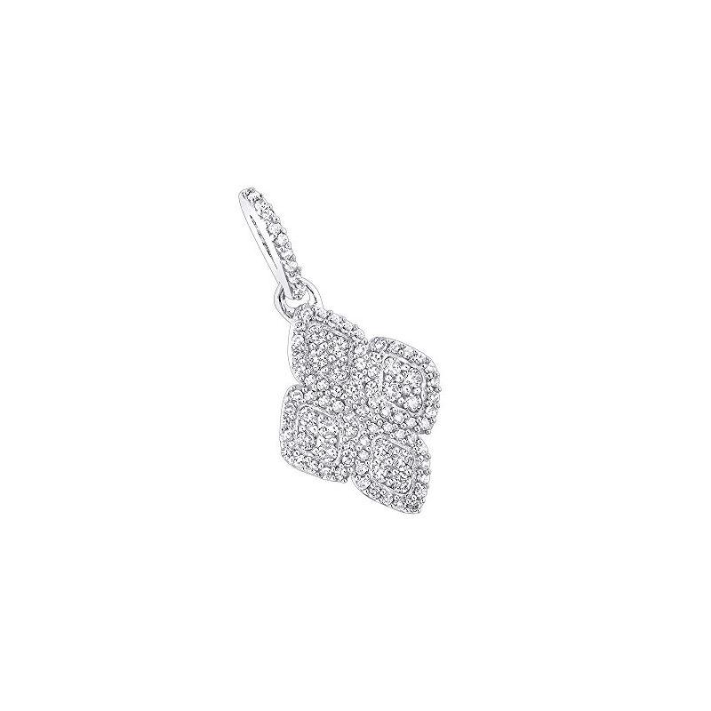 14K Gold Ladies Diamond Pendant by LUXURMAN (0.4 C