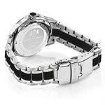 Luxurman Galaxy Midsize Real Diamond Watch Black Ceramic 1.25ct Leather Band 2
