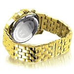 World Map Mens Diamond Watch 0.25Ct Yellow Gold-2