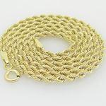 10K Yellow Gold rope chain GC15 2