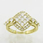 10K Yellow Gold womens wedding band enga 63148 2