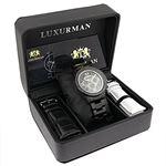 Black Diamond Watches: LUXURMAN Mens Diamond Wat-4
