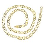 10K Yellow Gold 5.50mm Diamond Cut Mariner Link Solid Chain Bracelet with Lobster Clasp 2