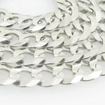 Mens White-Gold Cuban Link Chain Length - 20 inches Width - 5.5mm 2