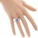 14K Natural Diamond Tanzanite Engagement Ring Fo-4