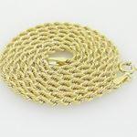 10K Yellow Gold rope chain GC13 2
