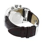 Large Watches: Luxurman Bullion Real Diamond Watch For Men 0.18ct Chronograph 2
