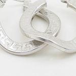 Round greek key wavy hoop earring SB92 30mm tall and 27mm wide 2