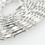 Mens .925 Italian Sterling Silver Hand Made Link Chain Length - 30 inches Width - 1.5mm 2