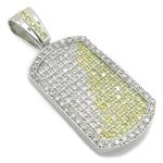 Mens .925 Italian Sterling Silver dog tag pendant Length - 2.72 inches Width - 1.12 2