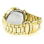 Phantom Mens Large Real Diamond Watch Yellow Gold Plated 0.12ct by Luxurman 2