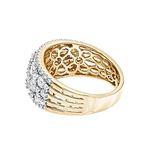 14K Gold Designer Diamond Wedding Band Ladies Ri-2