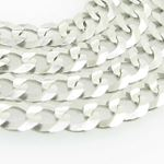 Mens White-Gold Cuban Link Chain Length - 20 inches Width - 4.5mm 2