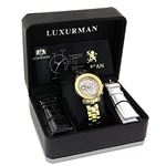 Ladies Luxurman Diamond Watch 0.30 ct Ye 89967 4