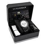 Black Genuine Diamond Watches: Luxurman Phantom Heavy Mens Watch 2.25ct 4