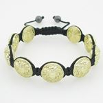 Yellow Greek style medusa string bracelet beaded macrame jewelry fashion bead 2