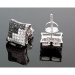 Sterling Silver Unisex Fashion Hand Set Stud Earrings Me0216d 2