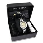 Luxurman Womens Diamond Watch 0.3ct Two  90703 4