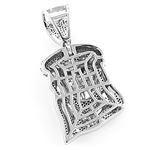 Mini Diamond Jesus Head Pendant in Sterl 79242 2