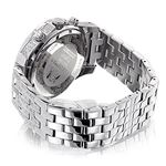Mens Genuine Diamond Watch 1.25ct Chronograph White Mother of Pearl by Luxurman 2