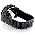 Iced Out Phantom Mens Black Genuine Diamond Luxurman Watch 3ct Chronograph 2