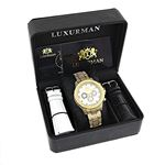 Iced Out Mens Watch With Diamond Band 1.25Ctw Of-4