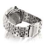 Centorum Mens Real Diamond Watch 0.5ct Midsize Falcon Stainless Steel Band 2