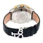 Jacob Co. 18K Yellow Gold Black Band 5Time Zone-4