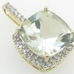 Ladies 10K Solid Yellow Gold Fancy stone pendant Length - 19mm Width - 12mm 2