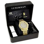 Iced Out Mens Diamond LUXURMAN Watch 1.25Ct Yell-4