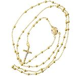 14K YELLOW Gold HOLLOW ROSARY Chain - 28 Inches Long 3.04MM Wide 2