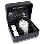 Mens Genuine Diamond Watch 1.25ct Chrono 90964 4