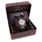 Designer Watches: Centorum Mens Real Diamond Watch 0.50ct Midsize Falcon 4
