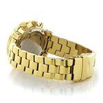 Luxurman Ladies Diamond Watch 0.3ct Yellow Gold Plated Interchangeable Straps 2