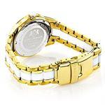 Luxurman Ladies Real Diamond Ceramic Watch 1.25ct White MOP Galaxy Yellow Gold 2