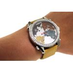 Jacob Co. Yellow Band Five Time Zone World Map 4-4