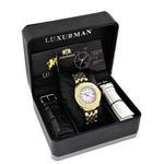 Luxurman Yellow Gold Plated Ladies Real  91128 4