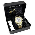 Mens Diamond Watches: Raptor Yellow Gold Plated-4