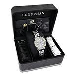 Luxurman Watches: Ladies White Yellow Bl 91068 4