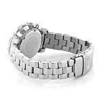 Luxurman Mens Genuine Diamond Watches: Plated Platinum Chronograph Watch 2ct 2